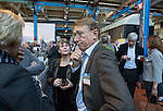 AMERSFOORT - Willem Zelsmann met  Pien van Nass   Nationaal Golf Congres & Beurs (Het Juiste Spoor) van de NVG.     © Koen Suyk.