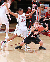 STANFORD, CA - January 7, 2012: Stanford Cardinal's Amber Orrange during Stanford's 67-60 victory over Oregon State at Maples Pavilion in Stanford, California.