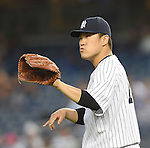 Masahiro Tanaka (Yankees),<br /> SEPTEMBER 8, 2015 - MLB :<br /> Pitcher Masahiro Tanaka of the New York Yankees during the Major League Baseball game against the Baltimore Orioles at Yankee Stadium in the Bronx, New York, United States. (Photo by AFLO)