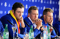 Ian Poulter (Team Europe) during media interview after the sunday singles at the Ryder Cup, Le Golf National, Paris, France. 30/09/2018.<br /> Picture Phil Inglis / Golffile.ie<br /> <br /> All photo usage must carry mandatory copyright credit (&copy; Golffile | Phil Inglis)