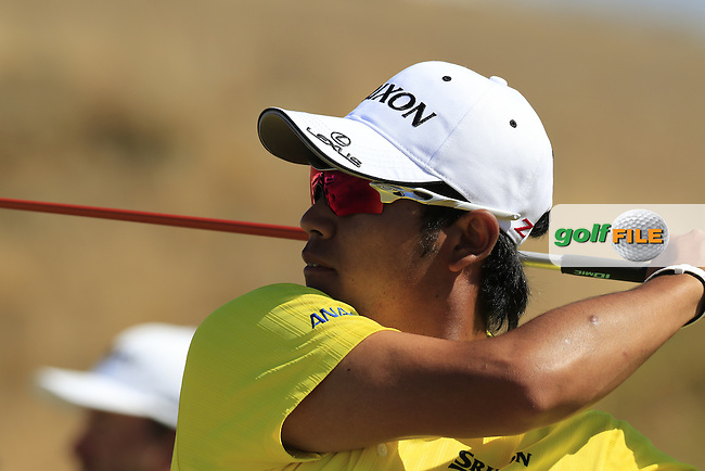 Hideki Matsuyana (JPN) tees off the 7th tee during Friday's Round 2 of the 2015 U.S. Open 115th National Championship held at Chambers Bay, Seattle, Washington, USA. 6/19/2015.<br /> Picture: Golffile | Eoin Clarke<br /> <br /> <br /> <br /> <br /> All photo usage must carry mandatory copyright credit (&copy; Golffile | Eoin Clarke)