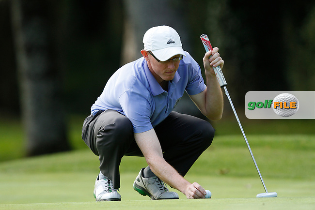 Graeme Dunlea (Adare Manor Hotel &amp; Golf Resort) on the 7th green during Round 1 of the 104th Irish PGA Championship at Adare Manor Golf Club on Thursday 2nd October 2014.<br /> Picture:  Thos Caffrey / www.golffile.ie
