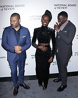 NEW YORK, NY - JANUARY 9:Jordan Peele, Lupita Nyong'o and Daniel Kaluuya at The National Board of Review Annual Awards Gala at Cipriani 42nd Street on January 9, 2018 in New York City. <br /> CAP/MPI99<br /> &copy;MPI99/Capital Pictures