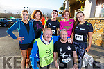 Ready for road at the Optimal Fitness 5 and 10 k run at the Rose Hotel on Monday. <br /> Kneeling l-r, Michael (Fox) O'Connor and Georgie Glover.<br /> Back l-r, Eileen Brennan, Marie Hickey, Ann O'Leary, Joan Glover and Maeve O'Leary.
