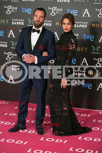 Megan Montaner attend the 2015 Goya Awards at Auditorium Hotel, Madrid,  Spain. February 07, 2015.(ALTERPHOTOS/)Carlos Dafonte) /NORTEphoto.com