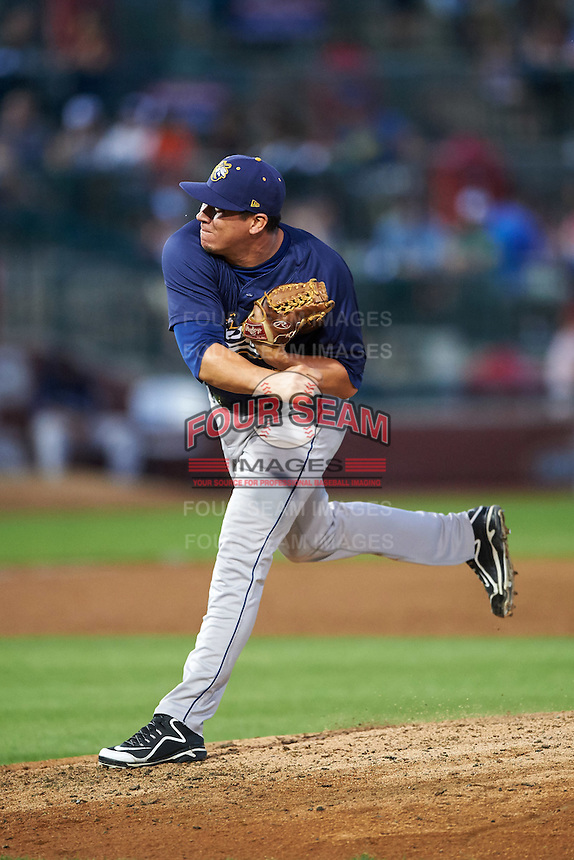 Burlington Bees relief pitcher Jhonny Polanco (39) during a game against the South Bend Cubs on July 22, 2016 at Four Winds Field in South Bend, Indiana.  South Bend defeated Burlington 4-3.  (Mike Janes/Four Seam Images)