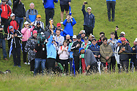 Tiger Woods (USA) chips from the rough at the 12th green during Thursday's Round 1 of the 148th Open Championship, Royal Portrush Golf Club, Portrush, County Antrim, Northern Ireland. 18/07/2019.<br /> Picture Eoin Clarke / Golffile.ie<br /> <br /> All photo usage must carry mandatory copyright credit (© Golffile | Eoin Clarke)