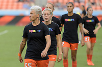 Houston, TX - Wednesday June 28, 2017: Janine van Wyk and teammates warming up during a regular season National Women's Soccer League (NWSL) match between the Houston Dash and the Boston Breakers at BBVA Compass Stadium.