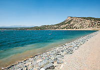 Lake Nighthorse near Durango, Colorado, Tuesday, August 18, 2015. Lake Nighthorse is a reservoir created by the 270 feet (82 m) high Ridges Basin Dam built as part of the Animas-La Plata Water Project, Lake Nighthorse provides water storage for tribal and water right claim-holders along the Animas River.<br /> <br /> Photo by Matt Nager