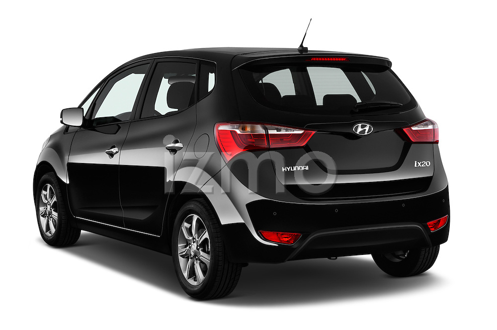 Car pictures of rear three quarter view of 2016 Hyundai ix20 Joy 5 Door Mini MPV Angular Rear