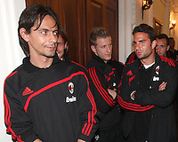 Filippo Inzaghi and teammates at a reception for AC Milan at DAR Constitution Hall in Washington DC on May 24 2010.