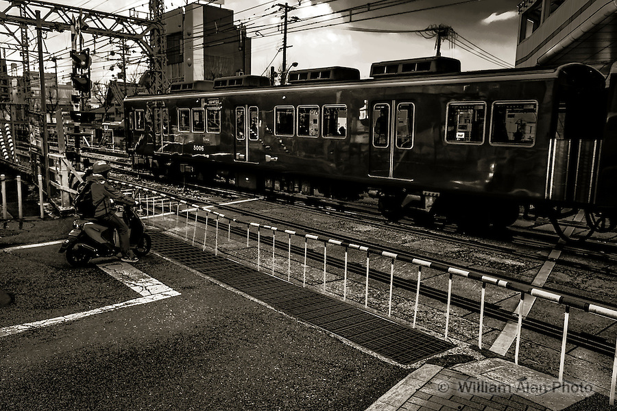 Scooter Train. Kobe, Hyogo Prefecture, Japan. 2015