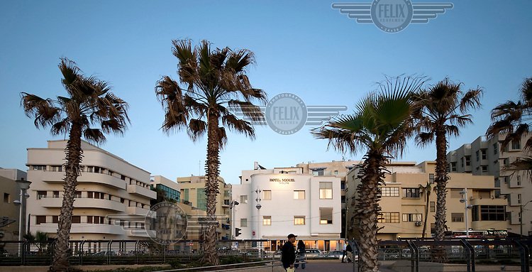 Bauhaus style buildings, including the Hotel Miguel, in Ha Yarkon Street. Tel Aviv is known as the White City in reference to its collection of 4,000 Bauhaus style buildings, the largest number in any city in the world. In 2003 the Bauhaus neighbourhoods of Tel Aviv were placed on the UNESCO World Heritage List.
