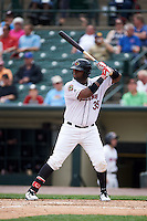 Rochester Red Wings first baseman Kennys Vargas (35) at bat during a game against the Indianapolis Indians on May 26, 2016 at Frontier Field in Rochester, New York.  Indianapolis defeated Rochester 5-2.  (Mike Janes/Four Seam Images)