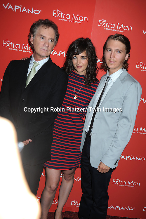 "Kevin Kline, Katie Holmes and Paul Dano, the stars of the movie, and Shari Springer Berman,arriving at The New York Premiere of "" The Extra Man"" on July 19, 2010 at the Village East Cinema in New York City."