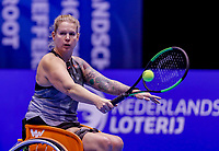 Rotterdam, Netherlands, December 15, 2017, Topsportcentrum, Ned. Loterij NK Tennis, Wheelchair woman's single semi final Michaela Spaanstra (NED)<br /> Photo: Tennisimages/Henk Koster