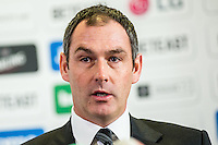 Thursday  05 January 2014<br /> Pictured: Swansea City Head Coach, Paul Clement <br /> Re: Paul Clement's first press conference as Swansea City Head Coach