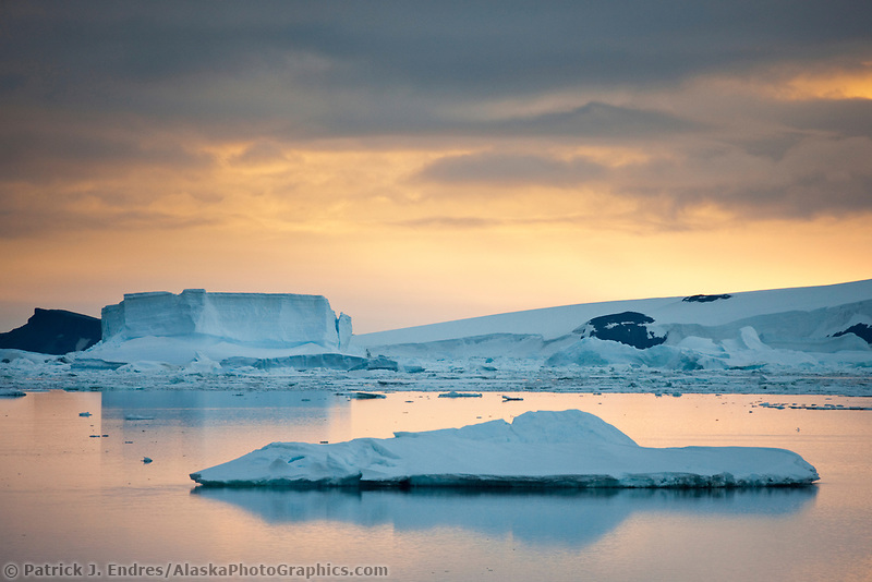 Sea ice near Paulet Island, Antarctic peninsula.