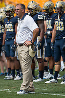 Pitt head coach Pat Narduzzi. The Pitt Panthers football team defeated the Youngstown State Penguins 45-37 on Saturday, September5, 2015 at Heinz Field, Pittsburgh, Pennsylvania.
