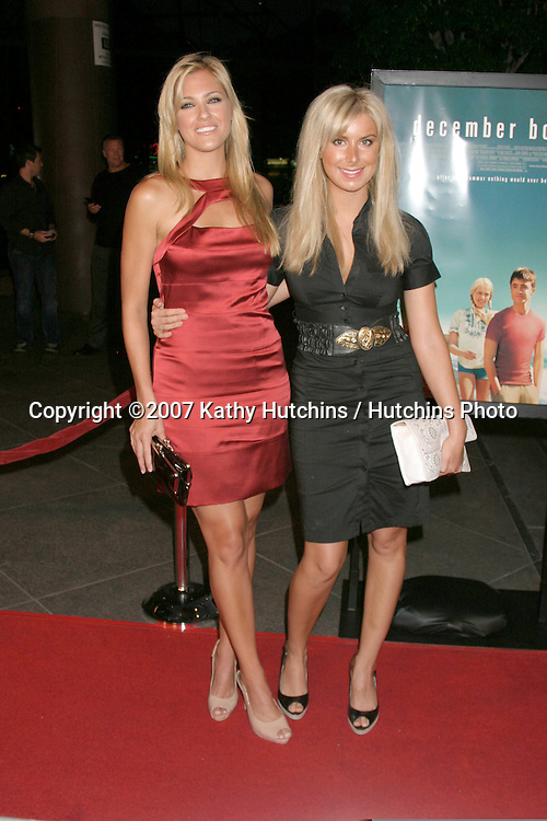 "Candace Kroslak & Kate Osborne.""December Boys"" Premiere.Director's Guild Theater.Los Angeles,  CA.September 6, 2007.©2007 Kathy Hutchins / Hutchins Photo..."