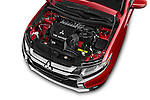 Car Stock 2016 Mitsubishi Outlander GT 5 Door SUV Engine high angle detail view