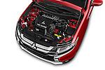 Car Stock 2016 Mitsubishi Outlander GT 5 Door SUV Engine high angle detail view