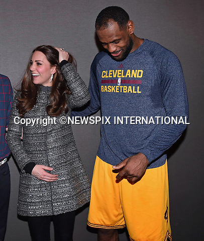 08.12.2014; New York, USA: KATE MIDDLETON AND PRINCE WILLIAM MEET LEBRON JAMES<br /> when they attend a NBA Match between the Brooklyn Nets and Cleveland Cavaliers at the Barclays Center.<br /> Mandatory Photo Credit: &copy;NEWSPIX INTERNATIONAL<br /> <br /> **ALL FEES PAYABLE TO: &quot;NEWSPIX INTERNATIONAL&quot;**<br /> <br /> PHOTO CREDIT MANDATORY!!: NEWSPIX INTERNATIONAL(Failure to credit will incur a surcharge of 100% of reproduction fees)<br /> <br /> IMMEDIATE CONFIRMATION OF USAGE REQUIRED:<br /> Newspix International, 31 Chinnery Hill, Bishop's Stortford, ENGLAND CM23 3PS<br /> Tel:+441279 324672  ; Fax: +441279656877<br /> Mobile:  0777568 1153<br /> e-mail: info@newspixinternational.co.uk