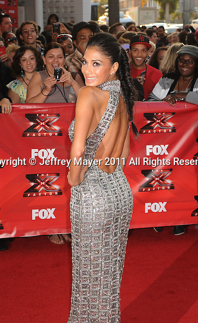 """HOLLYWOOD CA - SEPTEMBER 14: Nicole Scherzinger attends the """"The X Factor"""" World Premiere Screening at ArcLight Cinemas on September 14, 2011 in Hollywood, California."""