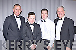 Tommy and Stephen Brosnan with Cathal and Kevin Griffin looking sharp at the Kerry Stars black tie ball in the Malton Hotel on Friday night.