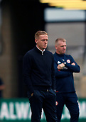 30th September 2017, Riverside Stadium, Middlesbrough, England; EFL Championship football, Middlesbrough versus Brentford; Garry Monk the Middlesbrough Manager with Dean Smith Manager of Brentford in the background in the 2-2 draw