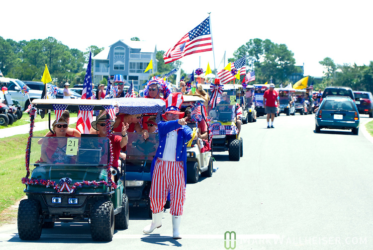 The 4th of July golf cart parade at Shell Point, Florida south of Tallahassee July 4, 2009.  (Mark Wallheiser/TallahasseeStock.com)