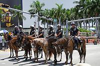 Police at Miami Heat NBA 2013 Championship parade, Biscayne Boulevard, American Airlines Arena, Miami, FL, June 24, 2013