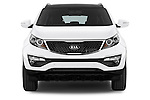Car photography straight front view of a 2014 KIA SPORTAGE Sense 5 Door SUV 2WD Front View