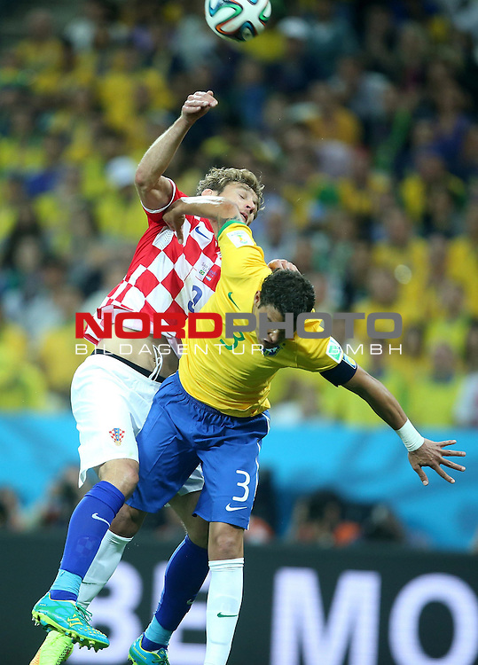2014 Fifa World Cup opening game from group A against Brazil and Croatia.<br /> Nikica Jelavic, T Silva<br /> <br /> Foto &copy;  nph / PIXSELL / Sajin Strukic