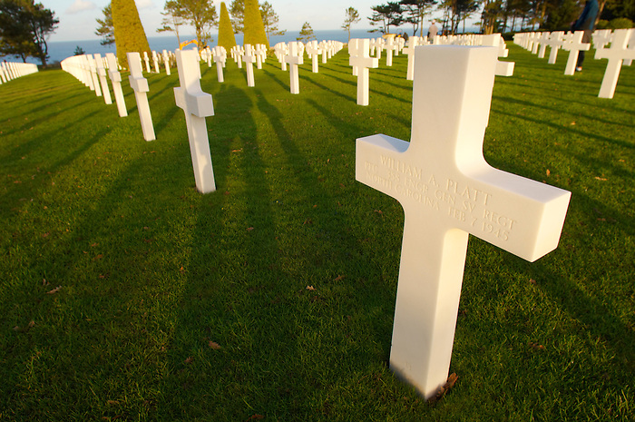 American second world war cemetry at Omaha beach. Normandy, France.