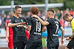 20.07.2019, Heinz Detmar Stadion, Lohne, Interwetten Cup 1. FC Köln vs SV Werder Bremen<br /> <br /> im Bild / picture shows <br /> <br /> Jubel 1:0 Joshua Sargent (Werder Bremen #19) mit Yuya Osako (Werder Bremen #08) und Marco Friedl (Werder Bremen #32)<br /> Foto © nordphoto / Kokenge
