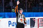 Stockholm 2014-02-24 Ishockey Hockeyallsvenskan Djurg&aring;rdens IF - S&ouml;dert&auml;lje SK :  <br /> domare Mikael Holm <br /> (Foto: Kenta J&ouml;nsson) Nyckelord:  portr&auml;tt portrait