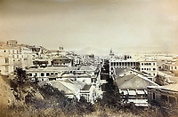 BNPS.co.uk (01202 558833)<br /> Pic: DominicWinterAuction/BNPS<br /> <br /> View west down Queens Road on Hong Kong island.<br /> <br /> Revealed - A fascinating photo album from the very early days of British Hong Kong...long before the skyscrapers covered it over.<br /> <br /> The 150 year old photos of Hong Kong taken by one of the first British photographers to venture to the Far East have emerged for sale for £15,000.<br /> <br /> John Thomson, who was also a geographer, left Edinburgh for Singapore in 1862 and spent the following decade travelling the region.<br /> <br /> He explored a decidely low-rise Hong Kong from 1868 to 1870, taking numerous pictures of the rapidly expanding settlement and its industrious inhabitants.<br /> <br /> They capture the area, which is currently engulfed in unrest and protest, at a far more tranquil time.<br /> <br /> The photos are being sold with auction house Dominic Winter, of Cirencester, Gloucs.