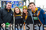 Eoghan McMahon, Megan O'Brien, Stacey Ryle and Denis O'Neill Austin Stacks supporters at the Austin Stacks v Slaughtneil All Ireland Club Football Semi Final in Portlaoise on Sunday.