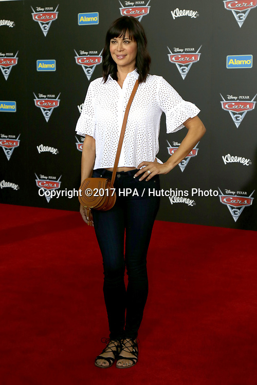 "LOS ANGELES - JUN 10:  Catherine Bell at the ""Cars 3"" Premiere at the Anaheim Convention Center on June 10, 2017 in Anaheim, CA"