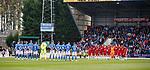 22.09.2019 St Johnstone v Rangers: A minutes silence for Fernando Ricksen