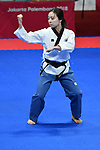 Mana Umehara (JPN), <br /> AUGUST 19, 2018 - Taekwondo : Poomsae Individual Female Round 16 at Jakarta Convention Center Plenary Hall during the 2018 Jakarta Palembang Asian Games in Jakarta, Indonesia. <br /> (Photo by MATSUO.K/AFLO SPORT)