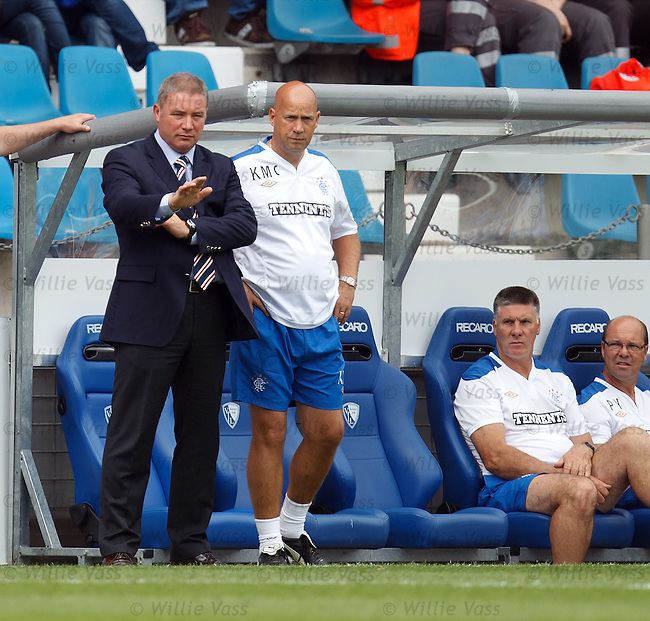 Ally McCoist tells his men to stay calm and carry on