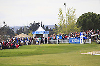 Paul Dunne (IRL) on the 1st tee during Round 4 of the Open de Espana 2018 at Centro Nacional de Golf on Sunday 15th April 2018.<br /> Picture:  Thos Caffrey / www.golffile.ie<br /> <br /> All photo usage must carry mandatory copyright credit (&copy; Golffile | Thos Caffrey)