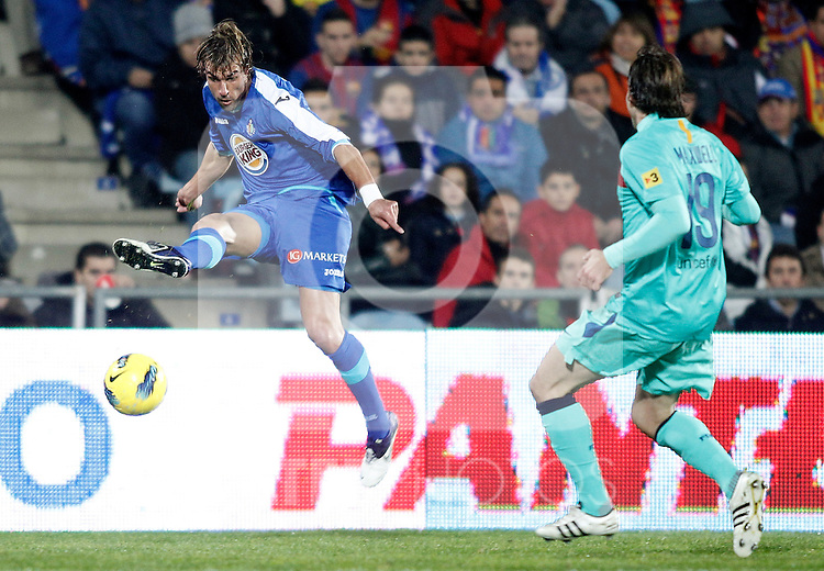 Getafe's Juan Valera during La Liga match. November 26, 2011. (ALTERPHOTOS/Alvaro Hernandez)