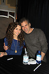"- A Tribute to Pine Valley - All My Children's Alicia Minshew ""Kendall"" poses with her husband Richie on February 16, 2013 with fans for Q&A, autographs, photos at Foxwoods Resorts Casino in Mashantucket, Ct. (Photo by Sue Coflin/Max Photos)"