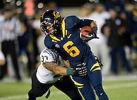 Chris Harper of California runs the ball during the game against Oregon at Memorial Stadium in Berkeley, California on November 10th, 2012.   Oregon Ducks defeated California Bears, 59-17.