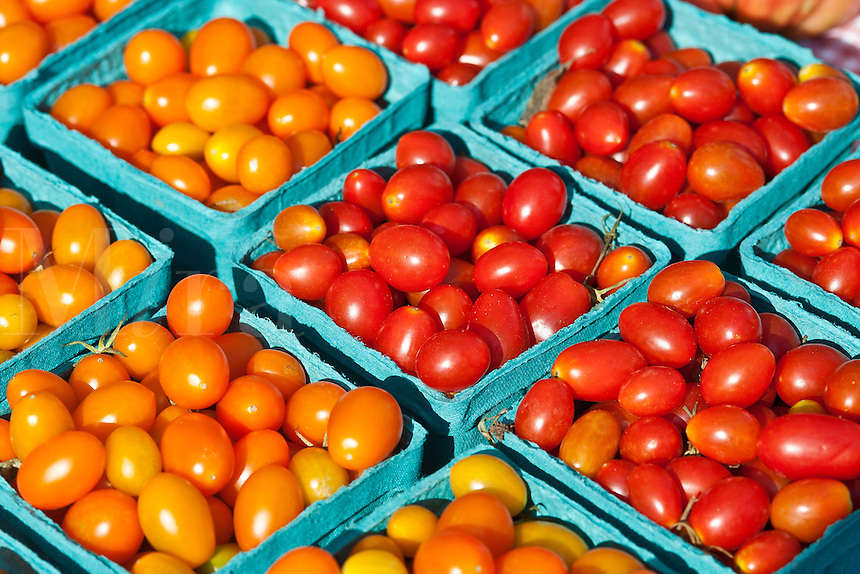 Cherry tomatoes at farmers market.