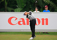 Phachara Khongwatmai (Asia) on the 7th tee during the Saturday Foursomes of the Eurasia Cup at Glenmarie Golf and Country Club on the 13th January 2018.<br /> Picture:  Thos Caffrey / www.golffile.ie