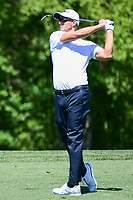 Adam Scott (AUS) watches his approach shot on 2 during round 1 of the Shell Houston Open, Golf Club of Houston, Houston, Texas, USA. 3/30/2017.<br /> Picture: Golffile | Ken Murray<br /> <br /> <br /> All photo usage must carry mandatory copyright credit (&copy; Golffile | Ken Murray)